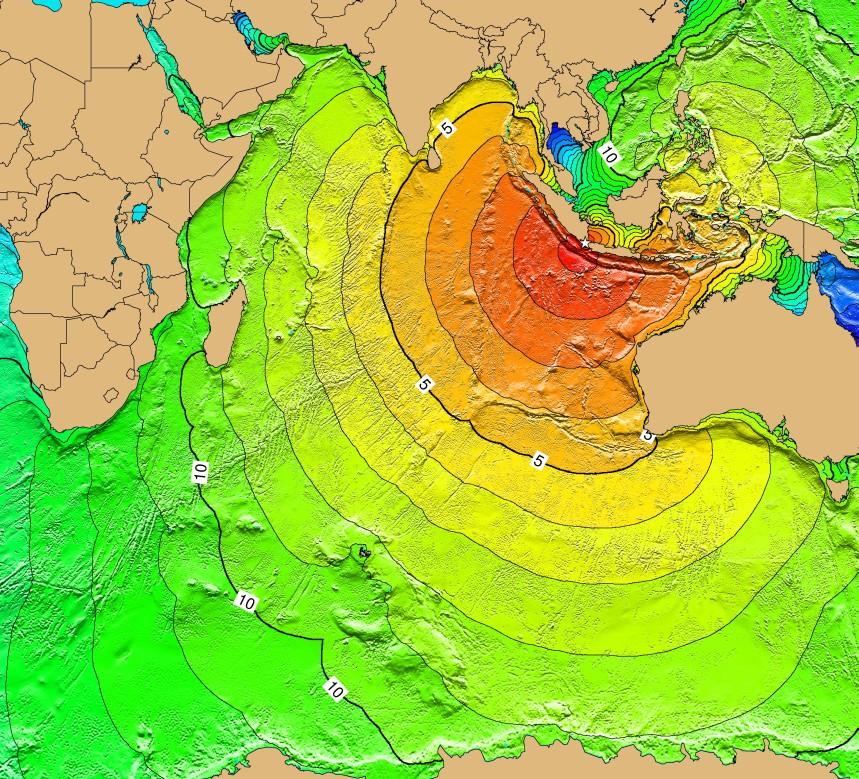 L'impatto dello tsunami del 1883