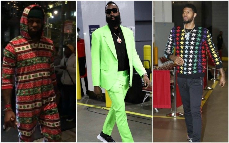 Il look delle stelle dell'Nba Christmas Day